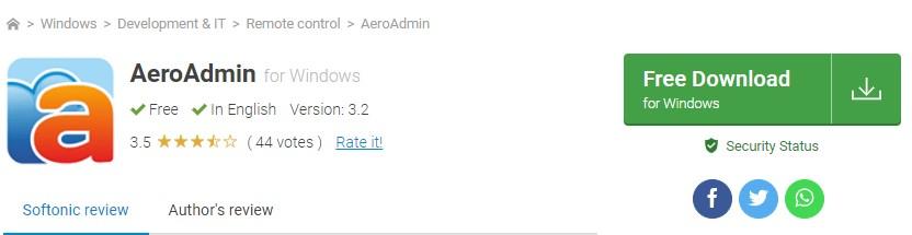Aplikasi AeroAdmin 5 aplikasi remote pc terbaik - 9 AeroAdmin - 5 Aplikasi Remote PC Terbaik yang Paling Populer