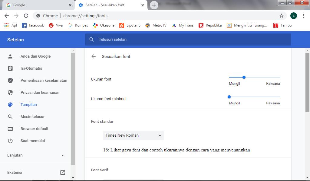 font chrome - Cara Memperbesar Ukuran Teks Di Google Chrome Laptop 5 - Cara Memperbesar Ukuran Teks Di Google Chrome