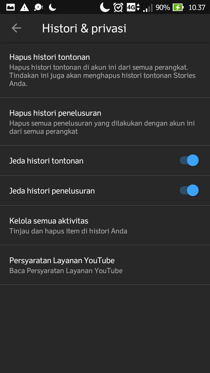 cara menghapus riwayat penelusuran youtube di hp android - Cara Menonaktifkan Histori Tontonan di Youtube Android step 6 - Cara Menghapus Histori Riwayat Penelusuran Tontonan di Youtube Android.