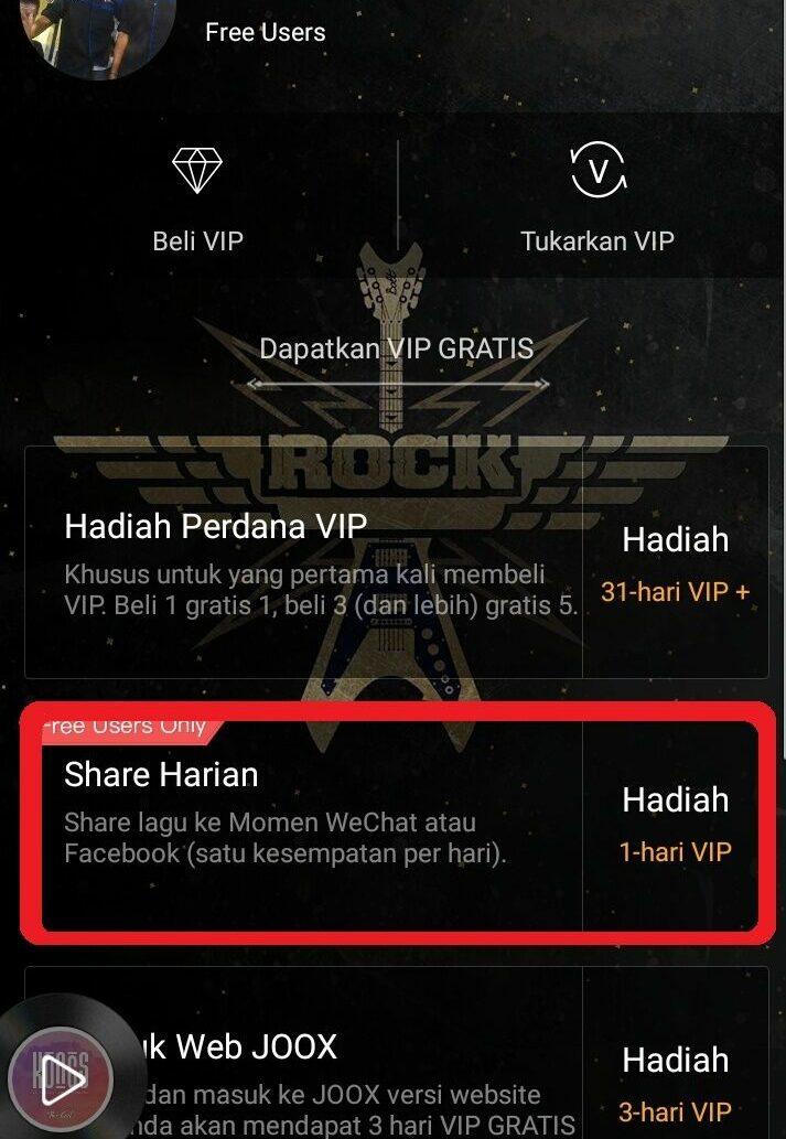 Cara mendapatkan JOOX VIP gratis dengan menjalankan misi cara mendapatkan joox vip gratis - 1 - Cara Mendapatkan JOOX VIP Gratis