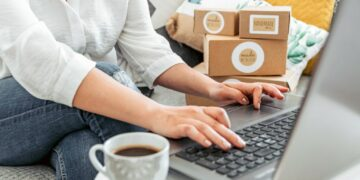 Cara Menjadi Eksportir Pemula yang Sukses - young woman working on laptop from home woman with her own online business online shopping one person t20 YEo0WO 360x180 - Cara Menjadi Eksportir Pemula yang Sukses